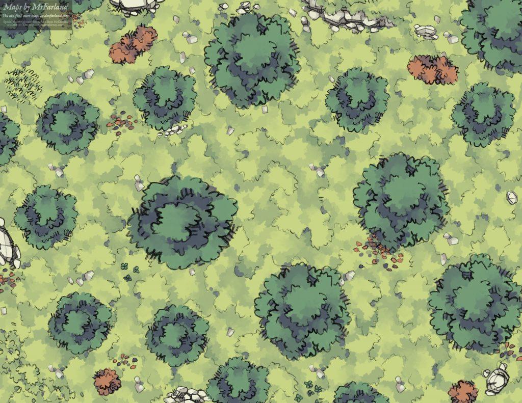 Light Woods Battle Map