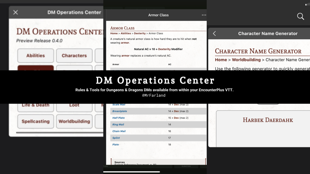 DM Operations Center